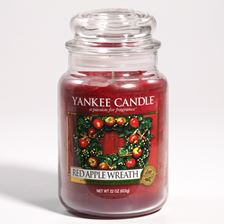 Picture of Red Apple Wreath large Jar (gross/grande)